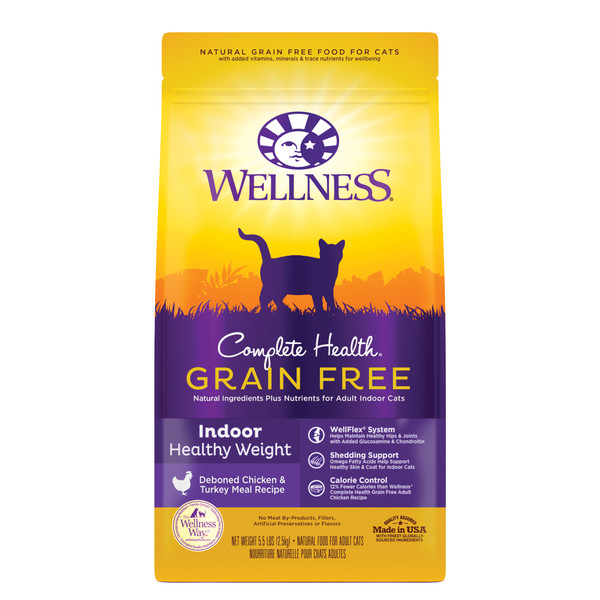 Wellness(貓)CHGF室內無穀體重控制5.5Lb