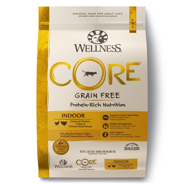 Wellness(貓)CORE無穀-室內貓低敏低卡健康11lb