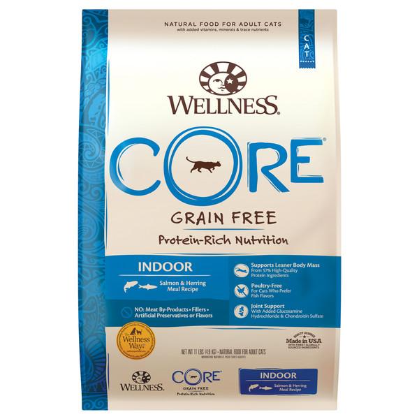 【即期促銷】Wellness(貓)CORE無穀室內貓頂級深海食譜-11lb