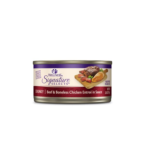 WELLNESS名廚特選主食罐(貓)SC3嫩牛肉塊+雞肉2.8oz