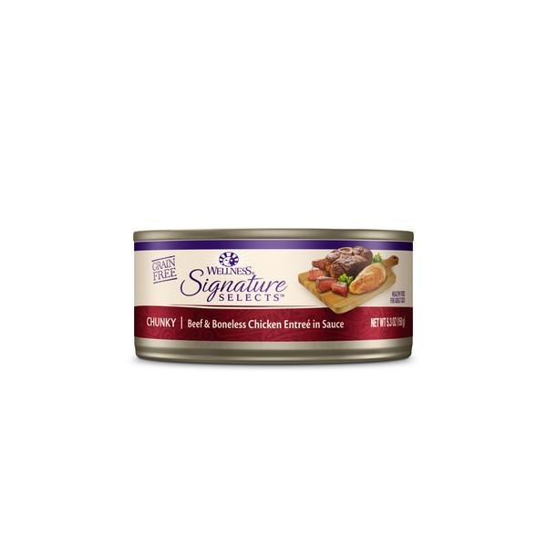 WELLNESS名廚特選主食罐(貓)SC33嫩牛肉塊+雞肉5.3oz