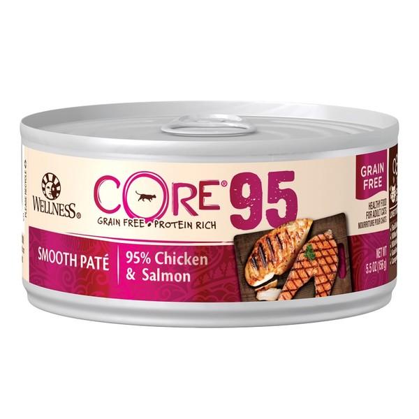 CORE無穀系列95%主食貓罐雞肉+鮭魚156g