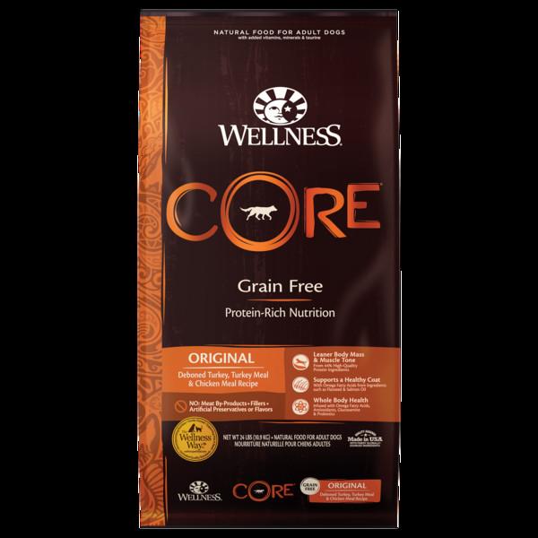 【即期促銷】Wellness(犬)CORE無穀成犬低敏經典美味-12lb
