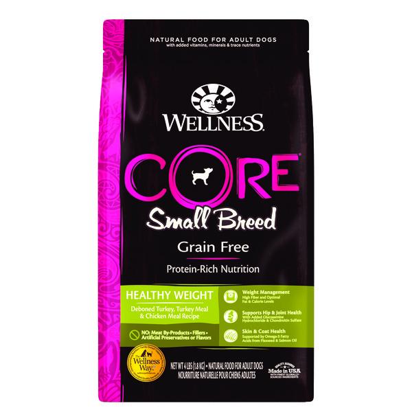 【Wellness】(犬)CORE無穀-小型成犬體重管理食譜4lb/12lb