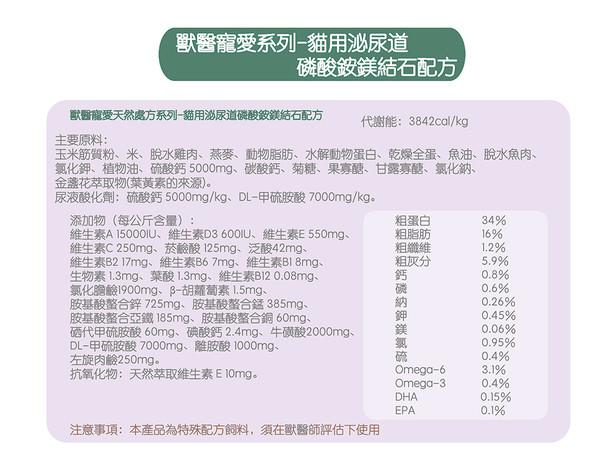 【法米納】處方(貓) 泌尿道磷酸銨鎂結石 2KG