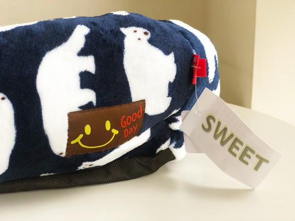 (缺品牌)【Sweet】簡易方床(小)北極熊 灰白/藍色
