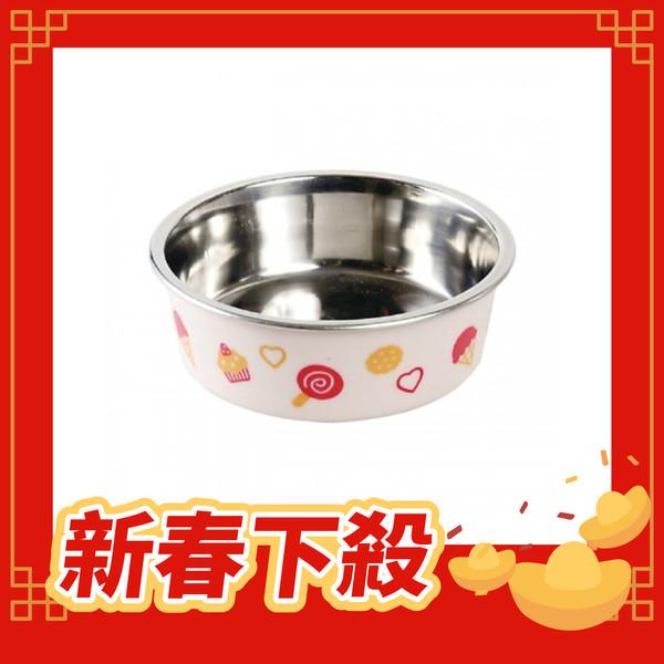 【DoggyMan】犬用冰淇淋彩繪橡膠止滑碗-粉紅色-Mini