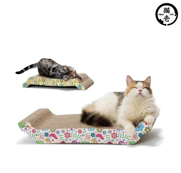 貓壱抓抓床L號-花圖 55x28x9cm