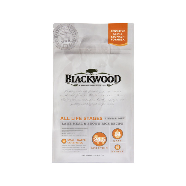 【BLACKWOOD 柏萊富】(犬)功能性全齡護膚亮毛(羊肉+糙米)5lb/15lb