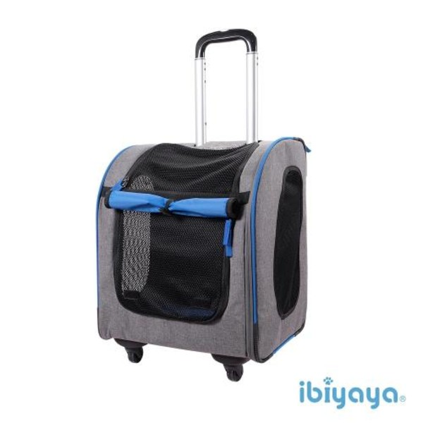 【IBIYAYA】新LISO後背平行拉桿包-岩灰藍