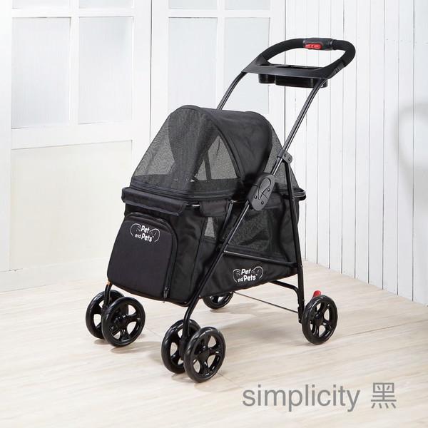 1169003300 Simplicity 寵物推車 - 黑