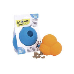 【Smarter-Toys-聰明零食放置球】原子型放置球-(橘-藍)-小