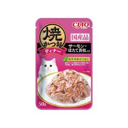 CIAO鰹魚燒晚餐餐包鰹魚+鮭魚+干貝50g