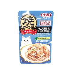【CIAO】鰹魚燒晚餐餐包化毛配方鰹魚+柴魚片+干貝50g