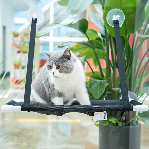 吸盤式透氣貓窗台