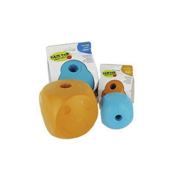 【Smarter-Toys-聰明零食放置球】方形放置球-(橘色)-小