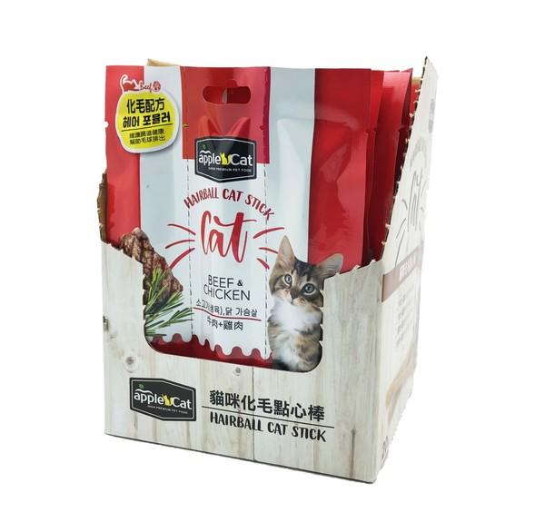 【AppleCat】貓咪化毛點心棒20g-雞+牛/羊/鮪/鮭
