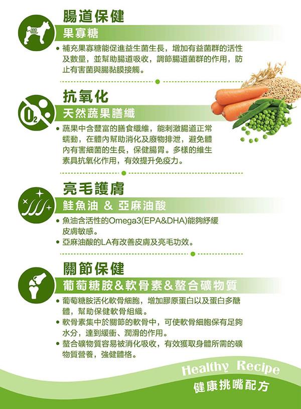【藍帶廚坊】健康挑嘴狗羊肉蔬果1.5kg/10kg