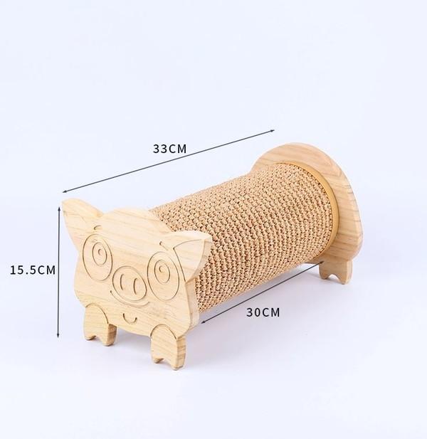 (E)喵仙兒可愛小豬造型貓抓柱33*19*16cm