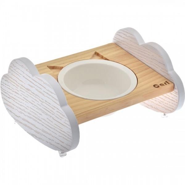 (E)喵仙兒雲朵造型原木碗架(單碗組)  23.4*23*13.18cm