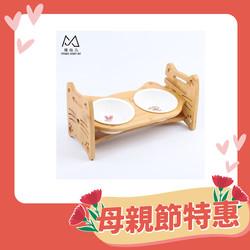 【喵仙兒】斜面原木碗架(雙碗組)-36-20-18cm-