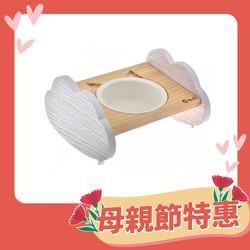 【喵仙兒】雲朵造型原木碗架碗組(單碗雙碗)