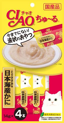CIAO啾嚕肉泥-雞肉+日本蟹14g*4入