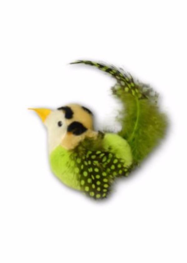 【Play-N-Squeak 狂野森林】皇室鳥類音效玩具 綠鳥/橙鳥