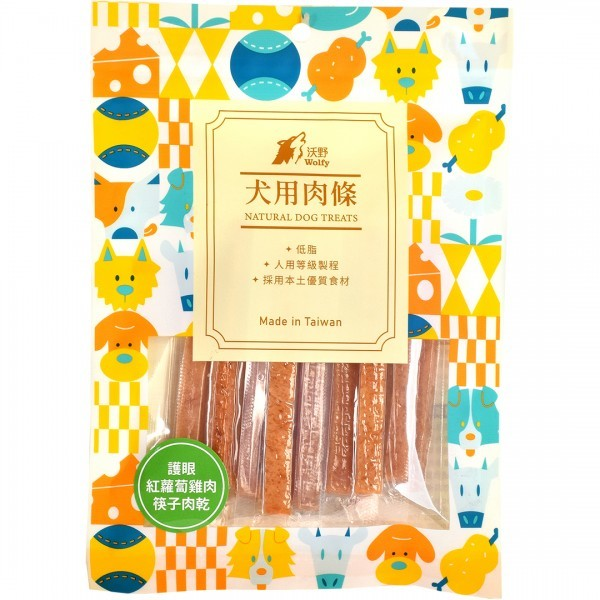 6971600433458沃野-護眼紅蘿蔔雞肉筷子肉乾130g
