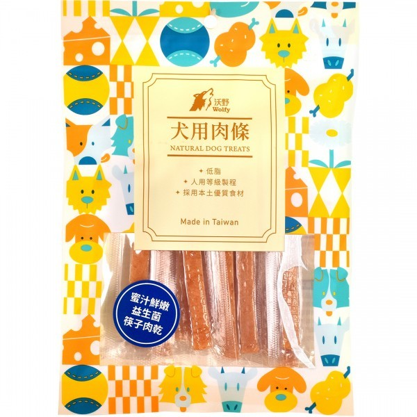 6971600433427沃野-蜜汁鮮嫩益生菌筷子肉乾130g