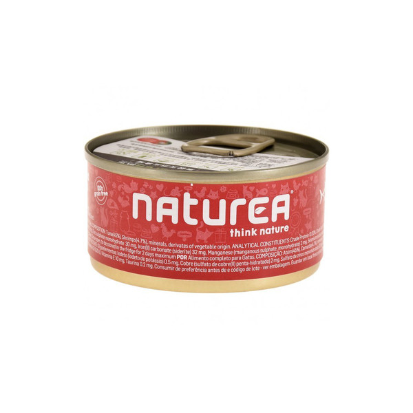 Naturea歐金天然無穀物貓主食罐(鮪魚+鮮蝦)85g