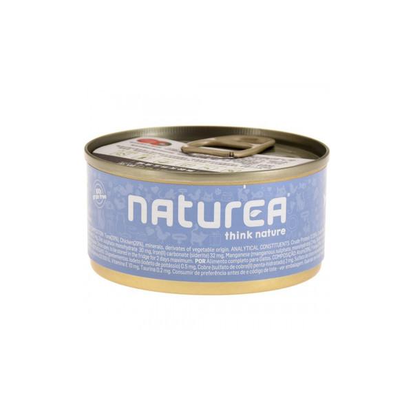 Naturea歐金天然無穀物貓主食罐(鮪魚+雞肉)85g