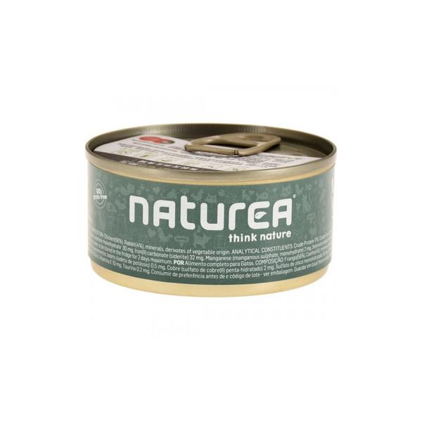 Naturea歐金天然無穀物貓主食罐(雞肉+兔肉)85g