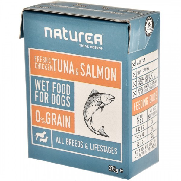 Naturea歐金天然無穀狗濕糧(雞肉+鮪魚+鮭魚)