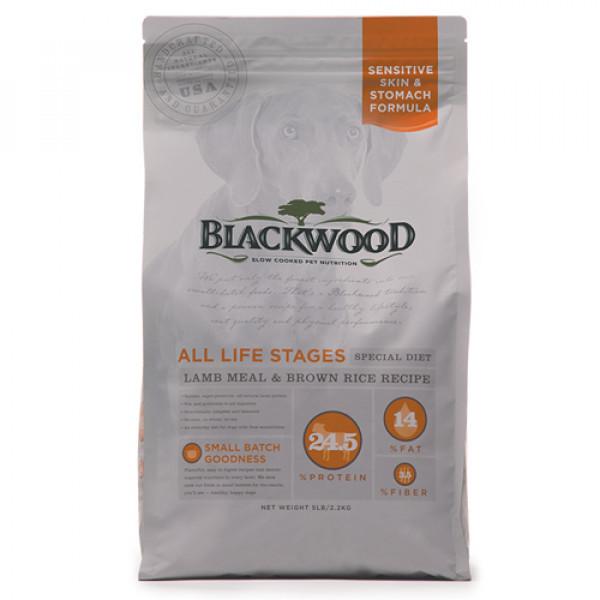 BLACKWOOD 柏萊富 功能性全齡 護膚亮毛配方(羊肉+糙米)-5lb/15lb