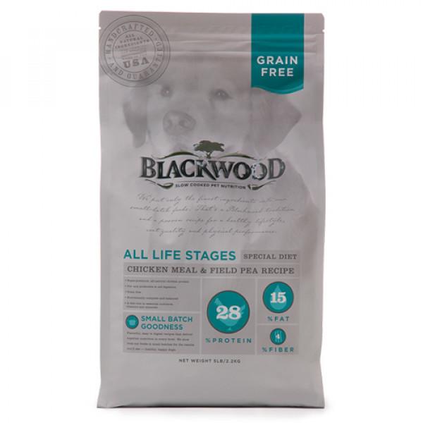 BLACKWOOD 柏萊富 無穀全齡 低敏純淨配方(雞肉+豌豆)5lb/15lb