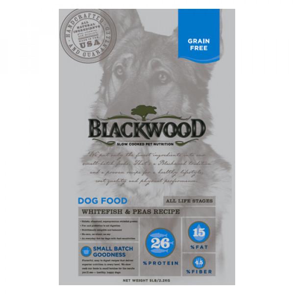 BLACKWOOD 柏萊富 極鮮無穀 全齡 低敏呵護配方(白鮭魚+豌豆)15lb