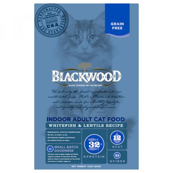 BLACKWOOD 柏萊富 極鮮無穀 室內成貓配方13.23lb-(白鮭魚+扁豆)/(雞肉+白鮭魚)