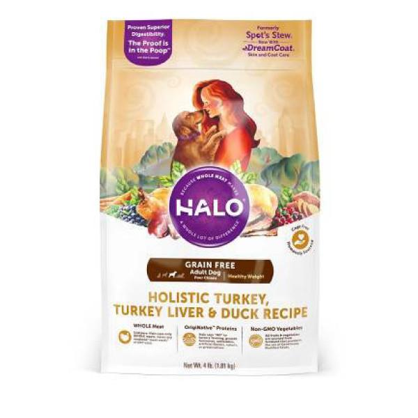 【HALO 嘿囉】無穀低脂成犬火雞肉燉鴨肉+鷹嘴豆2磅/4磅/14磅