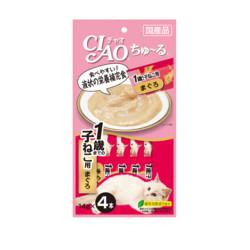 CIAO啾嚕肉泥幼貓1歲以上鮪魚14g-4p_4901133718281
