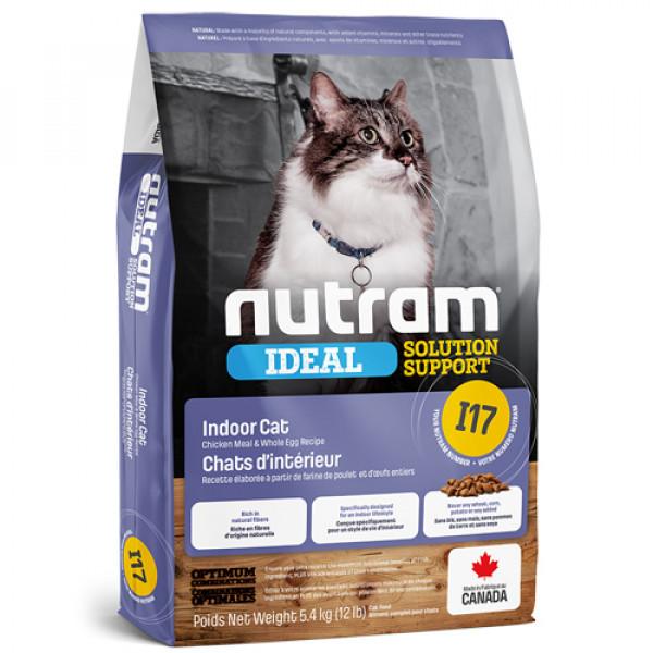【紐頓nutram】I17室內化毛成貓(雞肉燕麥)5.4KG