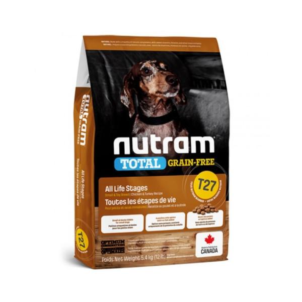 【紐頓nutram】T27無榖挑嘴小型犬(火雞+雞肉)5.4KG
