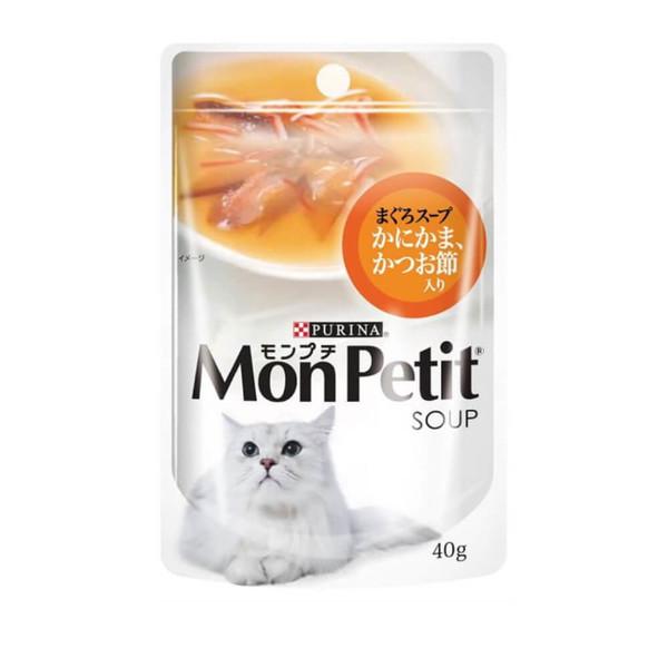 【貓倍麗MonPetit】貓倍麗極品鮮湯(40g)-鰹魚/銀魚/鮮蝦