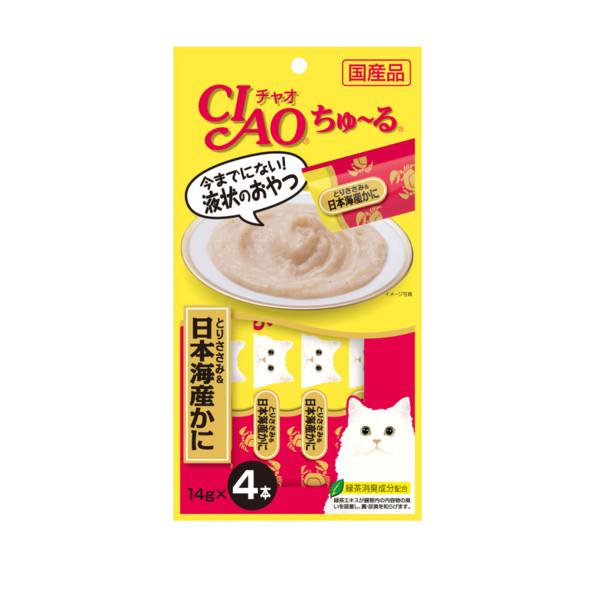 CIAO啾嚕肉泥雞肉+日本蟹14g*4入_4901133716683