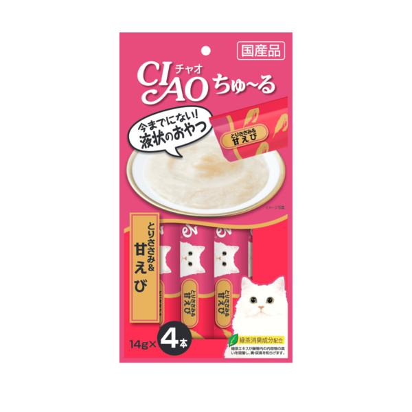 CIAO啾嚕肉泥雞肉+甜蝦14g*4入_4901133718465