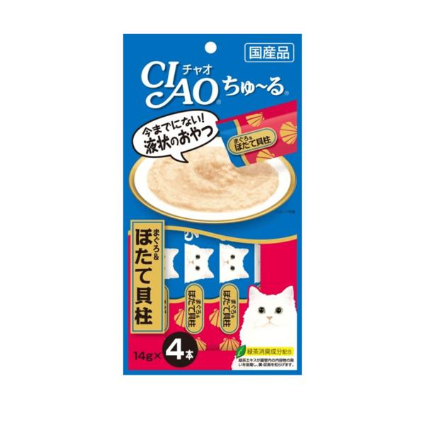 CIAO啾嚕肉泥鮪魚&干貝14g4p_4901133716690