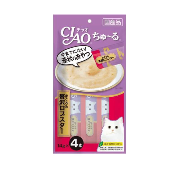 CIAO啾嚕肉泥(奢華鮪魚+龍蝦)14g*4入_4901133718922