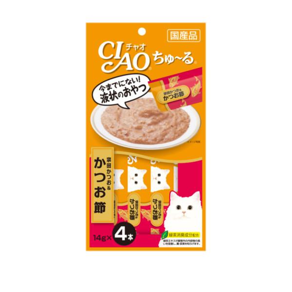 CIAO啾嚕肉泥鰹魚肉塊14g-4p_4901133716676