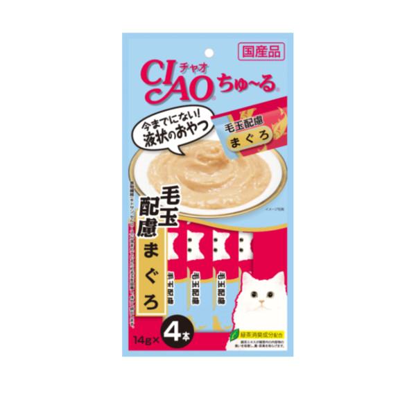 CIAO啾嚕化毛配方肉泥鮪魚14g-4p_4901133718298