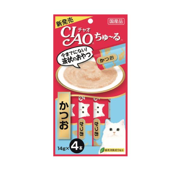 CIAO啾嚕肉泥鰹魚14g-4p_4901133716584